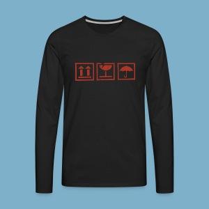 Fragile zerbrechlich Zeichen - Männer Premium Langarmshirt