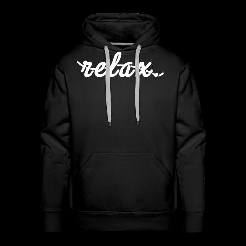 Relax. (White) - Men's Premium Hoodie
