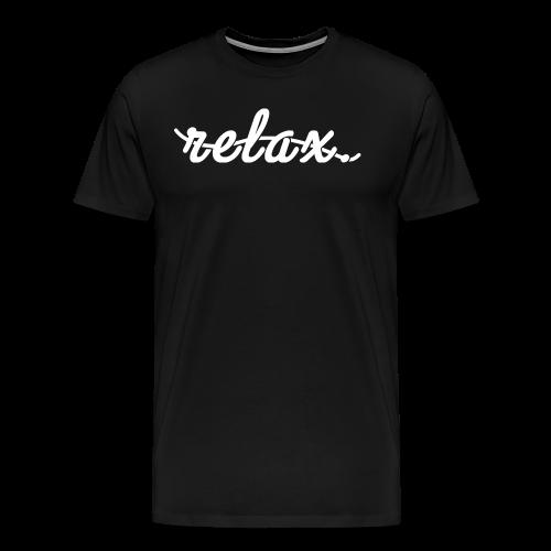 Relax. (White) - Men's Premium T-Shirt