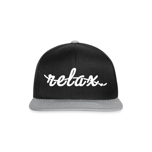 Relax. (White) - Snapback Cap