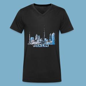 Berlin Sky Line - Männer Bio-T-Shirt mit V-Ausschnitt von Stanley & Stella