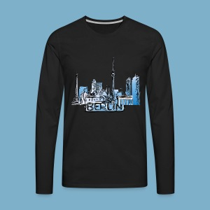 Berlin Sky Line - Männer Premium Langarmshirt