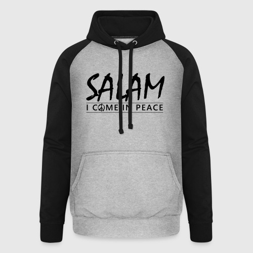 SALAM - I COME IN PEACE - Unisex baseball hoodie