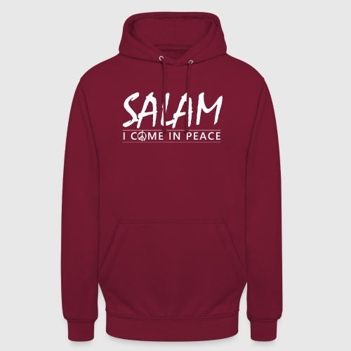 SALAM - I COME IN PEACE - Hættetrøje unisex