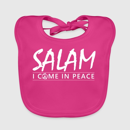 SALAM - I COME IN PEACE - Baby økologisk hagesmæk