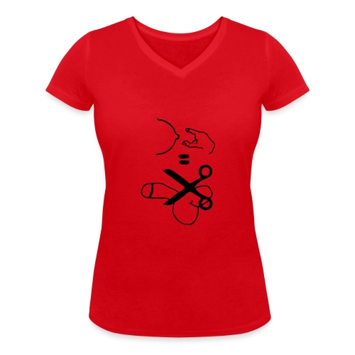 Antigrabsch-T-Shirt - Frauen Bio-T-Shirt mit V-Ausschnitt von Stanley & Stella