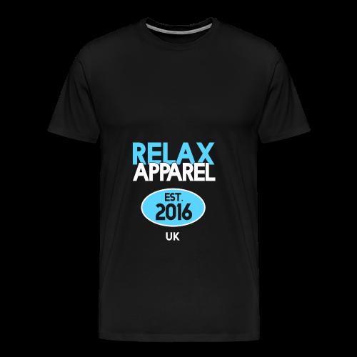 Relax Apparel White + Blue - Men's Premium T-Shirt