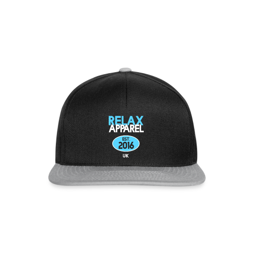 Relax Apparel White + Blue - Snapback Cap