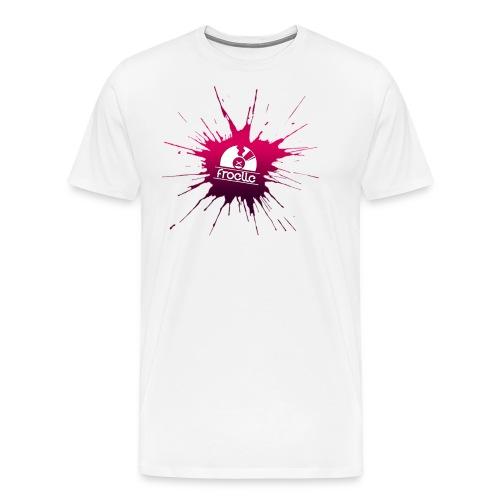 Froelle Splash Classic White T-Shirt - Premium-T-shirt herr
