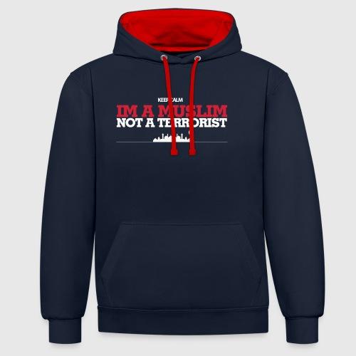 Im a muslim, not a terroist - Kontrast-hættetrøje