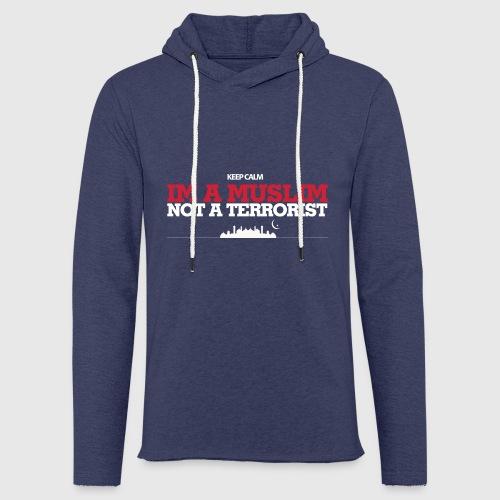 Im a muslim, not a terroist - Let sweatshirt med hætte, unisex