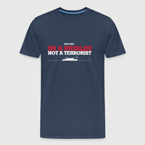 Im a muslim, not a terroist - Herre premium T-shirt