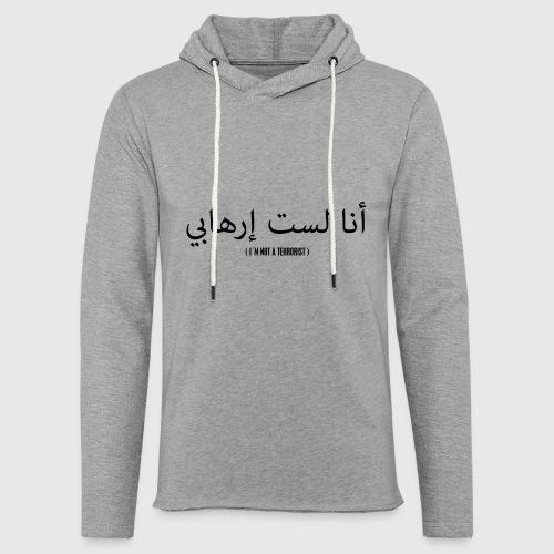Im not a terrorist - Let sweatshirt med hætte, unisex
