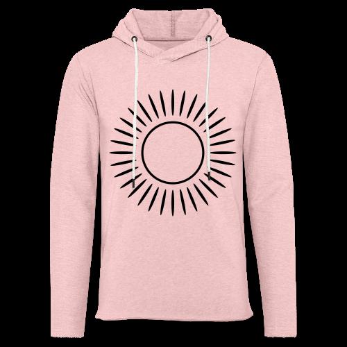 Sonne mit Strahlen Shirt - Leichtes Kapuzensweatshirt Unisex