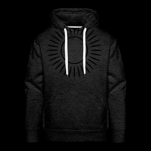 Sonne mit Strahlen Shirt - Männer Premium Hoodie