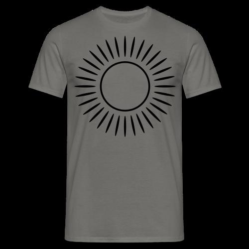 Sonne mit Strahlen Shirt - Männer T-Shirt