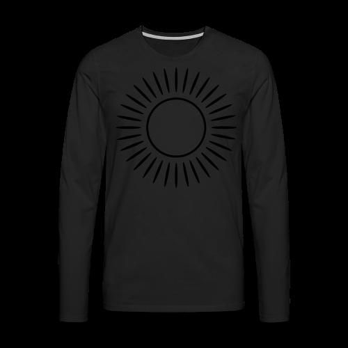 Sonne mit Strahlen Shirt - Männer Premium Langarmshirt
