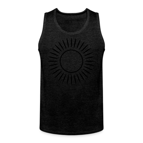 Sonne mit Strahlen Shirt - Männer Premium Tank Top