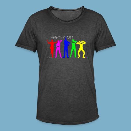 Dance Party Motiv - Männer Vintage T-Shirt