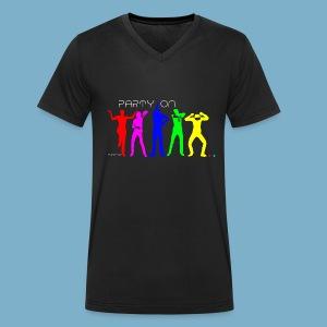 Dance Party Motiv - Männer Bio-T-Shirt mit V-Ausschnitt von Stanley & Stella