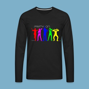 Dance Party Motiv - Männer Premium Langarmshirt