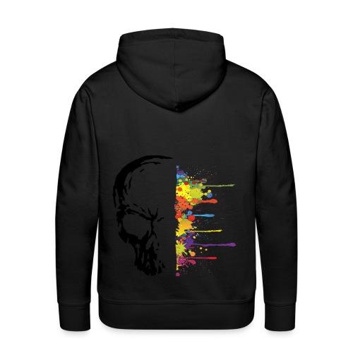 Men's Premium Hoodie - art,paint,skull