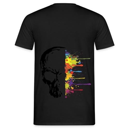 Men's T-Shirt - skull,paint,art