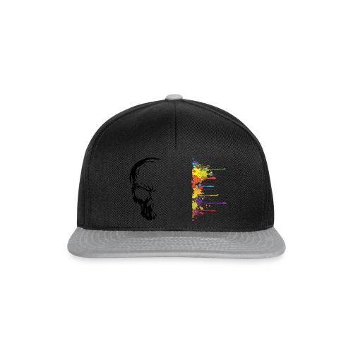 Snapback Cap - art,paint,skull