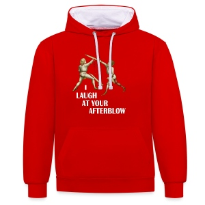 Premium 'I laugh at your afterblow' man's t-shirt - Contrast Colour Hoodie