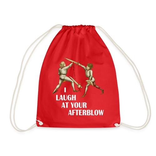 Premium 'I laugh at your afterblow' man's t-shirt - Drawstring Bag