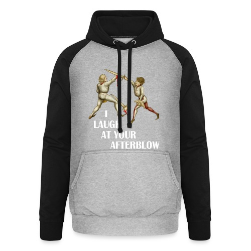 Premium 'I laugh at your afterblow' man's t-shirt - Unisex Baseball Hoodie