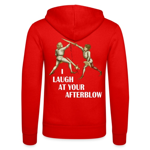 Premium 'I laugh at your afterblow' man's t-shirt - Unisex Hooded Jacket by Bella + Canvas