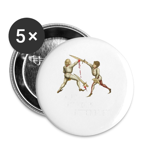 Premium 'I laugh at your afterblow' man's t-shirt - Buttons large 2.2''/56 mm(5-pack)