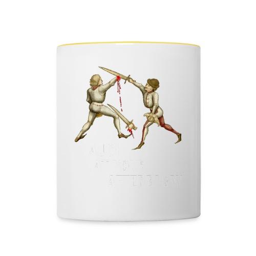Premium 'I laugh at your afterblow' man's t-shirt - Contrasting Mug