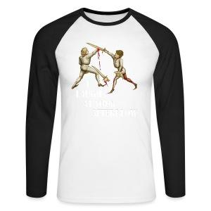 Premium 'I laugh at your afterblow' man's t-shirt - Men's Long Sleeve Baseball T-Shirt