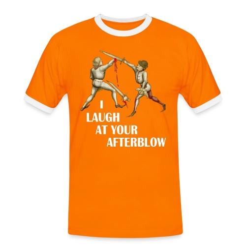 Premium 'I laugh at your afterblow' man's t-shirt - Men's Ringer Shirt