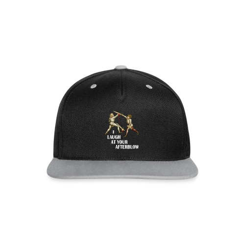 Premium 'I laugh at your afterblow' man's t-shirt - Contrast Snapback Cap