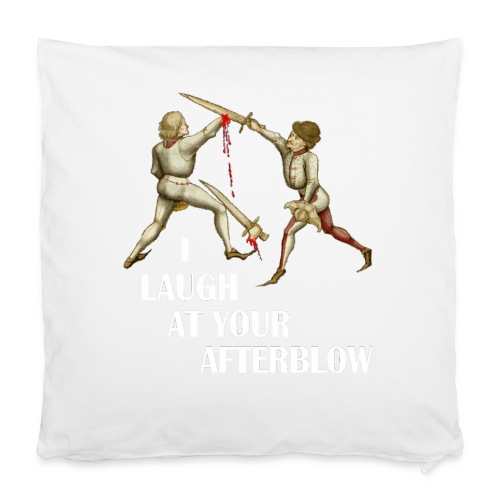 "Premium 'I laugh at your afterblow' man's t-shirt - Pillowcase 16"" x 16"" (40 x 40 cm)"