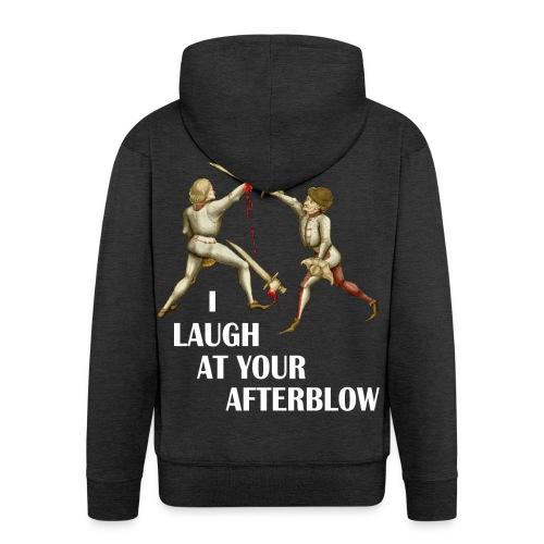 Premium 'I laugh at your afterblow' man's t-shirt - Men's Premium Hooded Jacket