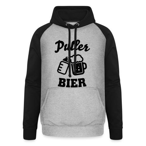 Puller Bier Langarmshirts - Unisex Baseball Hoodie