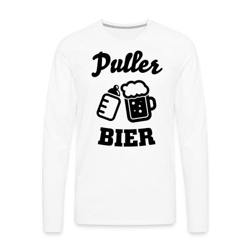 Puller Bier Langarmshirts - Männer Premium Langarmshirt