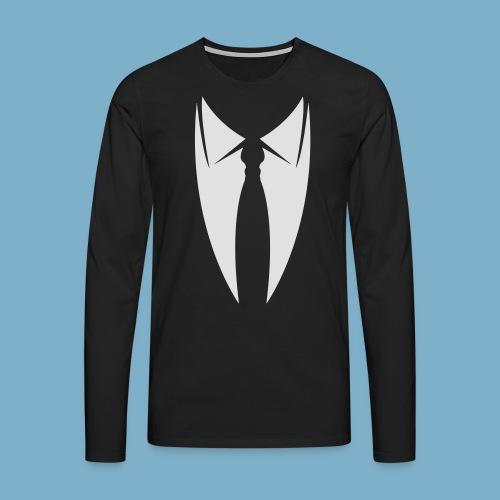Kravatte - Männer Premium Langarmshirt