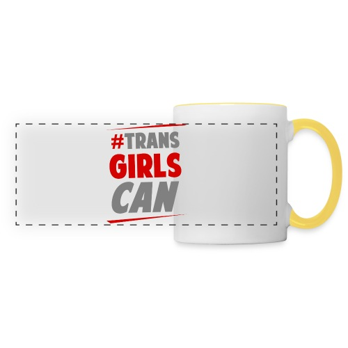 Panoramic Mug - Celebrating trans women who embrace health, fitness and sport. What Moves You? Tell us! #TransGirlsCan