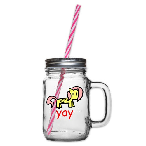 GENERIC BRONY SHIRT - Glass jar with handle and screw cap