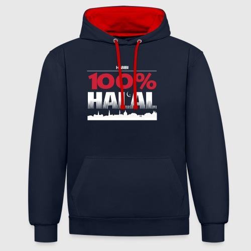 100%HALAL - Kontrast-hættetrøje