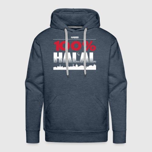 100%HALAL - Herre Premium hættetrøje
