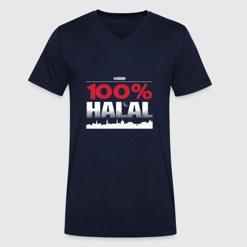 100%HALAL - Økologisk Stanley & Stella T-shirt med V-udskæring til herrer
