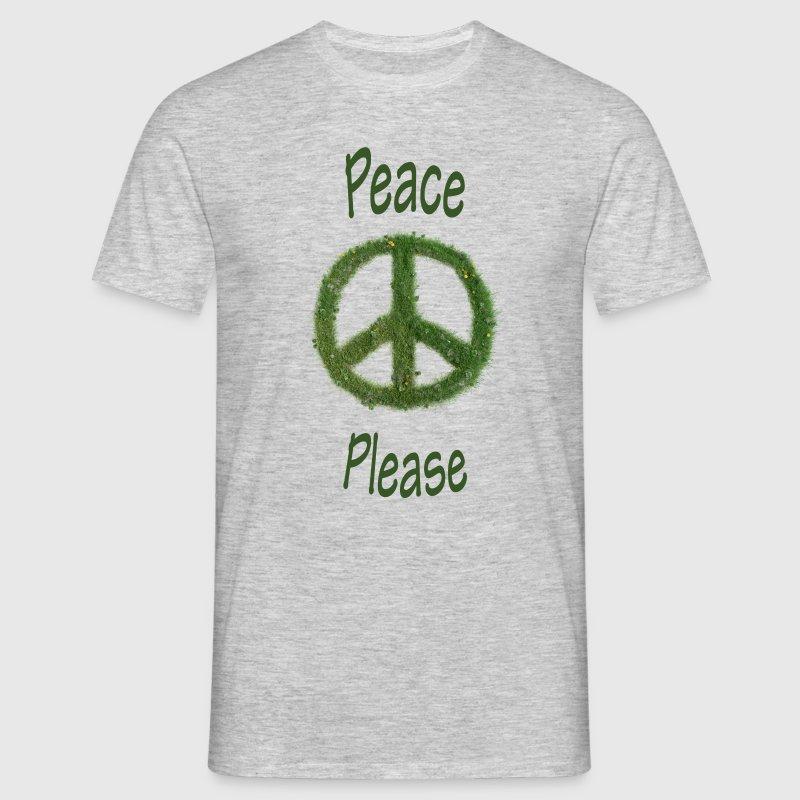 Peace - Please - mit Gras - Herrenshirt - Männer T-Shirt