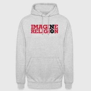 IMAGINE NO RELIGION - Hættetrøje unisex