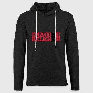 IMAGINE NO RELIGION - Let sweatshirt med hætte, unisex